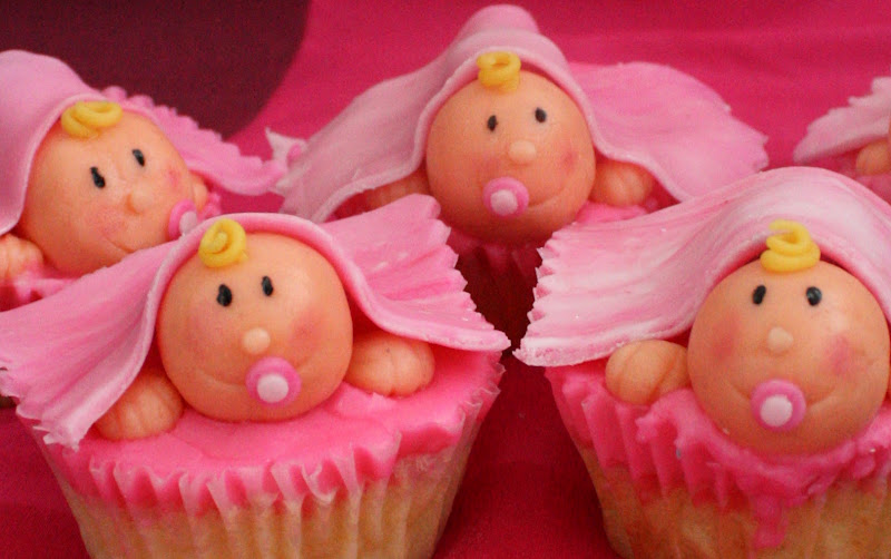 Cute cupcakes for a baby shower